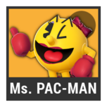 Super Smash Bros. Strife character box - Ms. Pac-Man