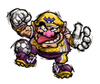 Brawl Sticker Wario (Super Mario Strikers)