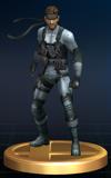 Solid Snake - Brawl Trophy