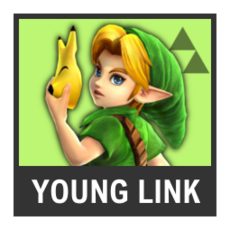 Super Smash Bros. Strife character box - Young Link