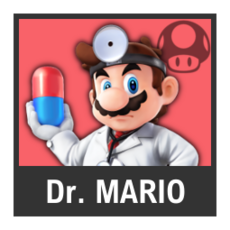 Super Smash Bros. Strife character box - Dr. Mario