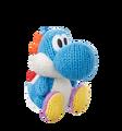 Light Blue Yarn Yoshi - Yoshi Woolly World amiibo