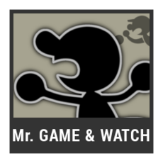 Super Smash Bros. Strife character box - Mr. Game & Watch