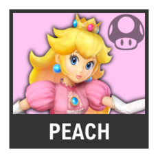 Super Smash Bros. Strife character box - Peach