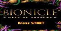 Menu Bionicle Maze of Shadows