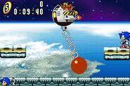Sonic Advance X Zone boss fight 1