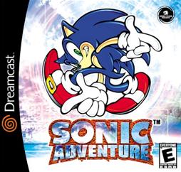 Sonic Adventure DreamCast Front Box Art