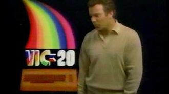 Commodore VIC-20 ad with William Shatner