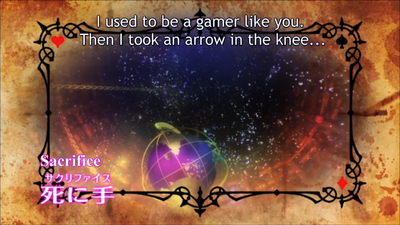 No Game No Life Arrow in the Knee