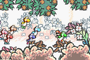 Yoshi departing with Baby Mario