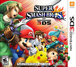 Super Smash Bros For Nintendo 3DS Box Art