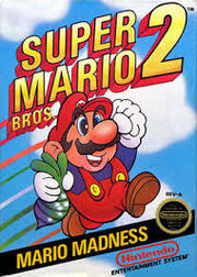 Super Mario Bros. 2 box cover