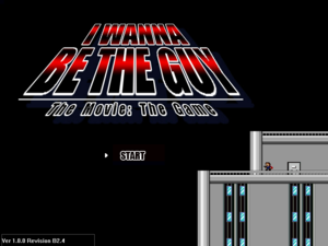 I Wanna Be The Guy - Title Screen