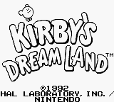 Kirby's Dream Land - Title Screen