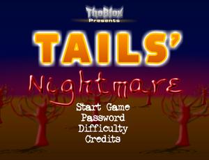 Tails' Nightmare - Main Menu