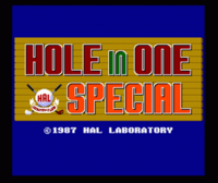 Hole In One Special titulo
