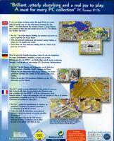 SimCity 2000 - portada back DOS EUR