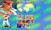 Street Fighter Alpha - Pantalla de selección