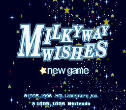 KirbySuperStarMilky Way