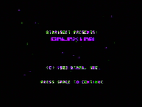 Galaxian Apple II TÍTULO