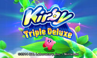 Kirby Triple Deluxe título