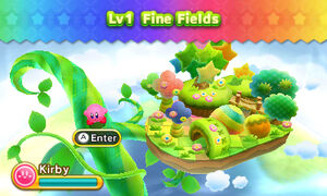 Kirby Triple Deluxe - Nivel 1