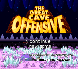 KirbySuperStarGreat Cave