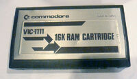 Commodore VIC-20 - cartucho memoria