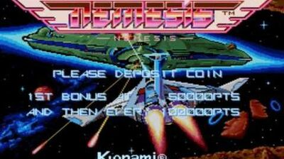 Gradius Nemesis arcade music (BGM) - Start of stage