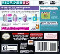Picross 3D - portada USA BACK
