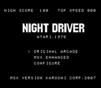 Night Driver MSX