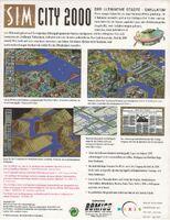 SimCity 2000 - portada back Amiga EUR