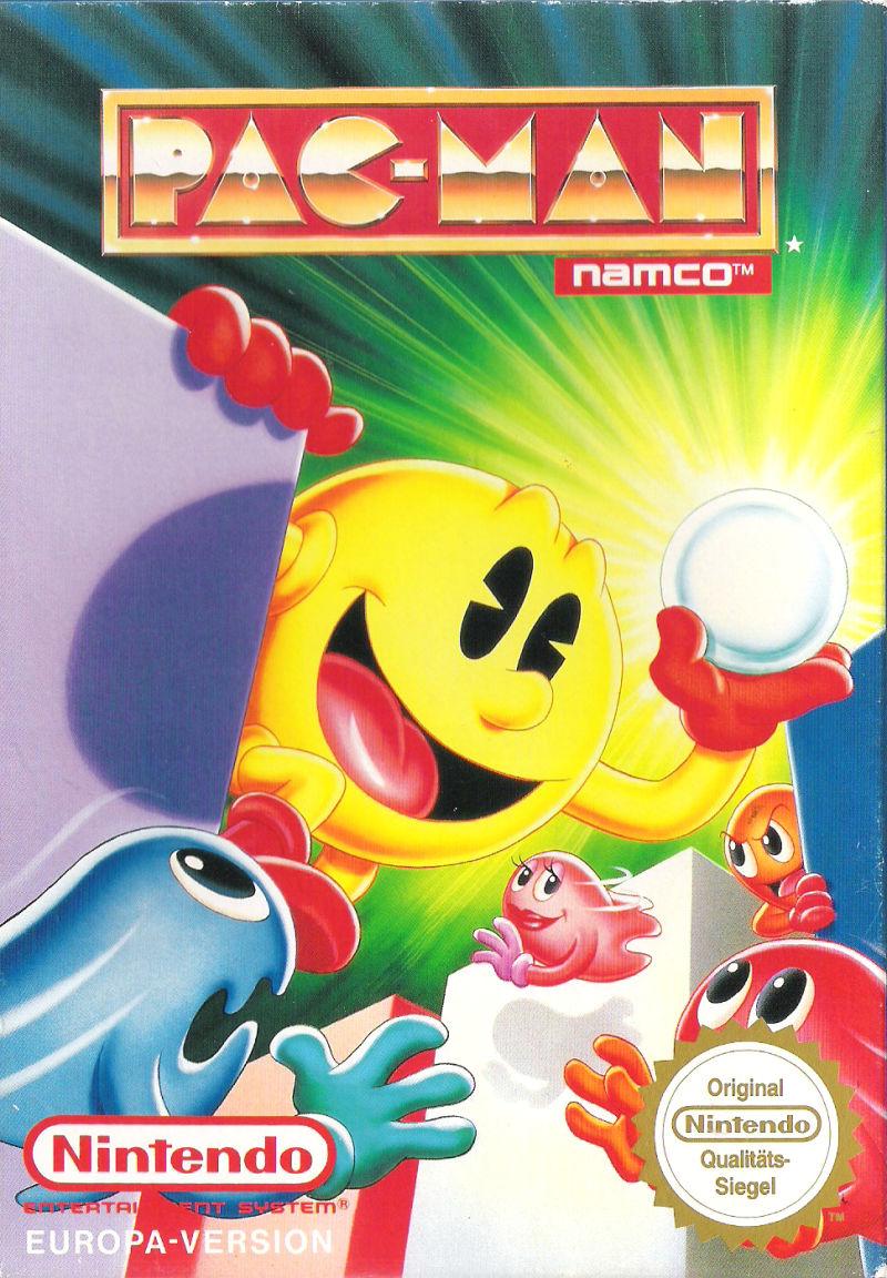 Imagen Pac Man Portada Nes Eur Jpg Wikijuegos Fandom Powered