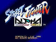 Street Fighter Alpha - Título