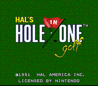 HAL's Hole in One Golf titulo
