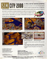 SimCity 2000 - portada back DOS ESP