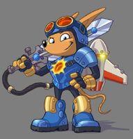 Rocket Knight - Sparkster arte 1