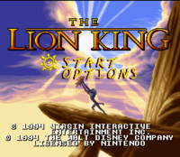 The Lion King SNES título