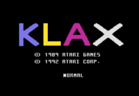 Klax Atari 7800 captura1
