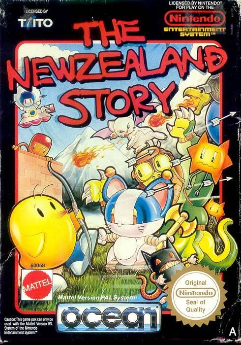 Imagen The New Zealand Story Portada Nes Mattel Jpg Wikijuegos