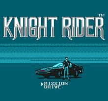 Knight Rider NES titulo