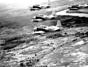 A-1E Skyraider aircraft in formation, 1965