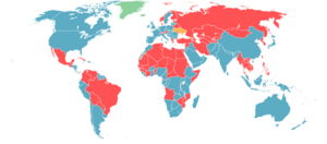 Conscription map of the world