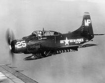 AD-5 Skyraider VMA-331 1950s