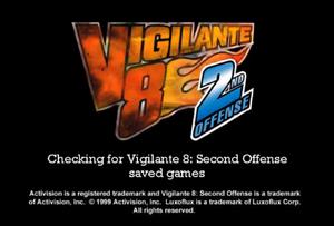 V8 2nd offense start screen
