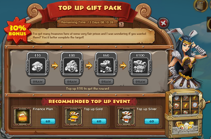 Top up gift pack