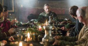Эгберт обсуждает с подданными перспективы переговоров с викингами