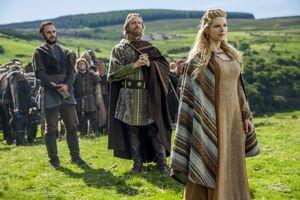Король Эгберт поддерживает Лагерту при основании мирного поселения викингов в Уэссексе