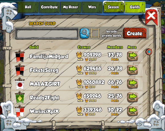 Create or Join a Guild