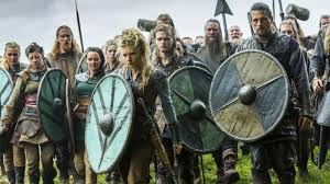 Lagertha and her men moving forward to the gates of Paris